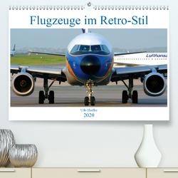 Flugzeuge im Retro-Stil (Premium, hochwertiger DIN A2 Wandkalender 2020, Kunstdruck in Hochglanz) von Haafke,  Udo