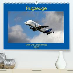 Flugzeuge – Starts und Landeanflüge (Premium, hochwertiger DIN A2 Wandkalender 2020, Kunstdruck in Hochglanz) von Gayde,  Frank