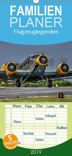 Flugzeuglegenden – Familienplaner hoch (Wandkalender 2019 , 21 cm x 45 cm, hoch) von PHOTOART & MEDIEN,  MH