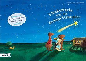 Flunkerfuchs und das Weihnachtswunder. Bildkarten fürs Erzähltheater Kamishibai von Langen,  Annette, Weldin,  Frauke