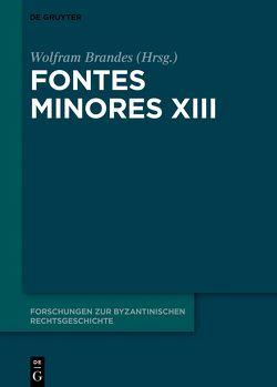 Fontes Minores XIII von Brandes,  Wolfram
