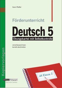 Förderunterricht Deutsch 5 von Pfeiffer,  Karin