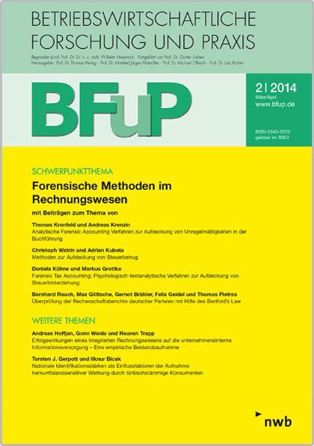 Forensische Methoden Im Rechnungswesen Von Bfup 22014