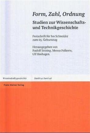 Form, Zahl, Ordnung von Folkerts,  Menso, Hashagen,  Ulf, Seising,  Rudolf