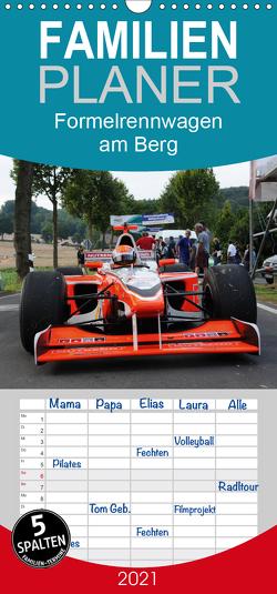 Formelrennwagen am Berg – Familienplaner hoch (Wandkalender 2021 , 21 cm x 45 cm, hoch) von von Sannowitz,  Andreas