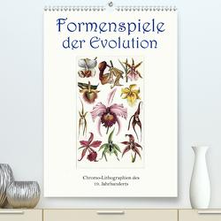 Formenspiele der Evolution. Chromolithographien des 19. Jahrhunderts (Premium, hochwertiger DIN A2 Wandkalender 2020, Kunstdruck in Hochglanz) von Galle,  Jost