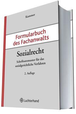Formularbuch des Fachnwalts Sozialrecht von Kummer,  Peter