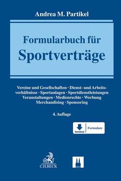 Formularbuch für Sportverträge von Partikel,  Andrea M.