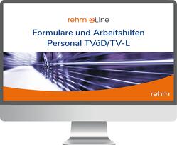 Formulare und Arbeitshilfen Personal TVöD / TV-L online von Ewinger,  Hildegard, Junt,  Andreas, Klebau,  Marie, Pahmeyer,  Carola, Rothbrust,  Manfred