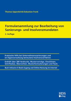 Formularsammlung zur Bearbeitung von Sanierungs- und Insolvenzmandaten von Uppenbrink,  Thomas