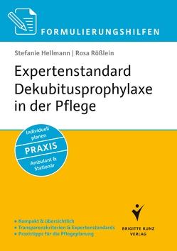 Formulierungshilfen Expertenstandard Dekubitusprophylaxe in der Pflege von Hellmann,  Stefanie, Rößlein,  Rosa