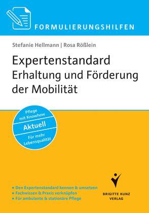 Formulierungshilfen Expertenstandard Erhaltung und Förderung der Mobilität in der Pflege von Hellmann,  Stefanie, Rößlein,  Rosa