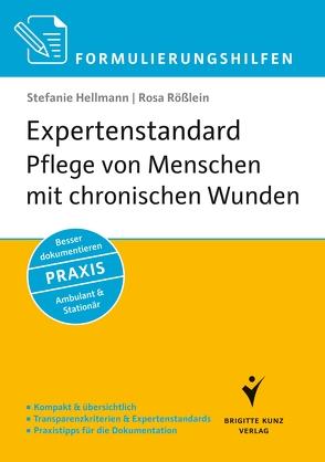 Formulierungshilfen Expertenstandard Pflege von Menschen mit chronischen Wunden von Hellmann,  Stefanie, Rößlein,  Rosa