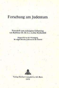 Forschung am Judentum
