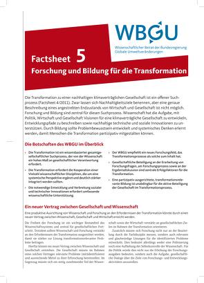 Forschung und Bildung für die Transformation