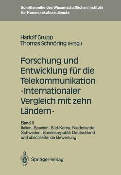 Forschung und Entwicklung für die Telekommunikation — Internationaler Vergleich mit zehn Ländern — von Grupp,  Hariolf, Schnöring,  Thomas