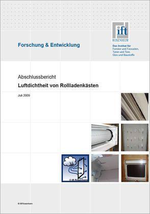 Forschungsbericht: Lufdichtheit von Rollladenkästen von ift Rosenheim GmbH