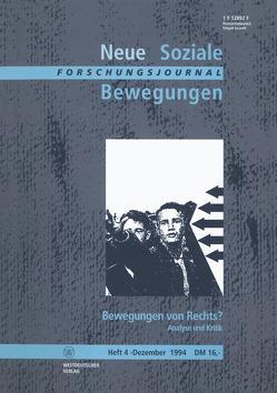 Forschungsjournal Neue Soziale Bewegungen von Klein,  Ansgar, Legrand,  Hans-Josef, Leif,  Thomas