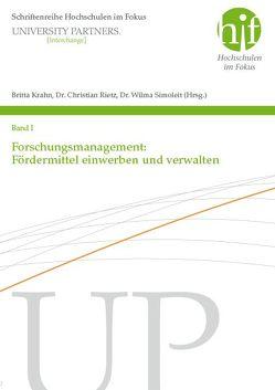 Forschungsmanagement: Fördermittel einwerben und verwalten von Krahn,  Britta, Rietz,  Christian, Simoleit,  Wilma