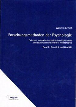 Forschungsmethoden der Psychologie / Forschungsmethoden der Psychologie von Kempf,  Wilhelm