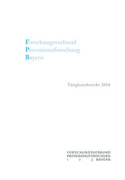 Forschungsverbund Provenienzforschung Bayern von Grimm,  Alfred