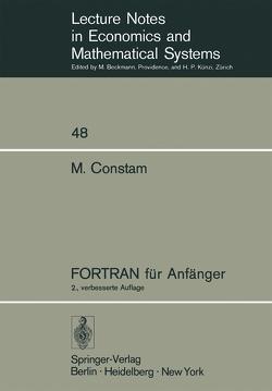 FORTRAN für Anfänger von Constam,  Martin