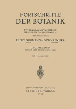 Fortschritte der Botanik von Gäumann,  Ernst, Renner,  Otto