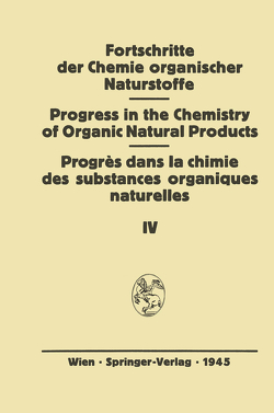 Fortschritte der Chemie Organischer Naturstoffe von Bernhard,  K., Lincke,  H., Löw,  I., Purrmann,  R., Schramm,  G., Trurnit,  H.J., Tschesche,  R., Wieland,  T.