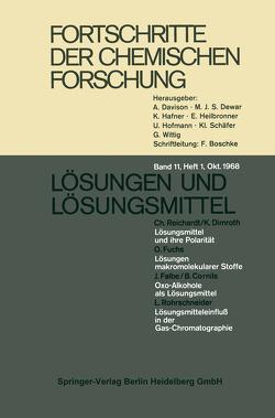 Fortschritte der chemischen Forschung von Fischer,  F. G., Kohlschütter,  H. W., Schäfer,  K L
