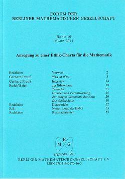 Forum der Berliner Mathematischen Gesellschaft / Anregung zu einer Ethik-Charta für die Mathematik von Baierl,  Rudolf, Preuss,  Gerhard, Ptolemäus,  Claudius