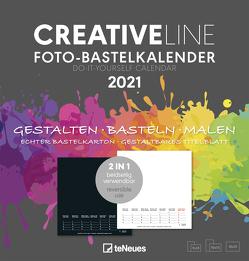 Foto- Bastelkalender 2 in 1 2021 – Kreativ-Kalender – DIY-Kalender – Kalender-zum-basteln – 21×22 – datiert