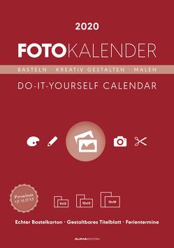 Foto-Bastelkalender rot 2020 – Bastelkalender – Do it yourself calendar A4 – datiert – Kreativkalender – Fotokalender von ALPHA EDITION