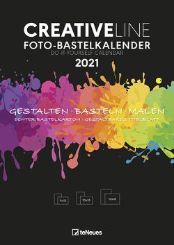 Foto-Bastelkalender schwarz 2021 – Kreativ-Kalender – DIY-Kalender – Kalender-zum-basteln – 21×29,7 – datiert