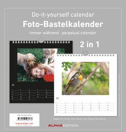 Foto-Bastelkalender – schwarz / weiß – immerwährend – (21 x 22)