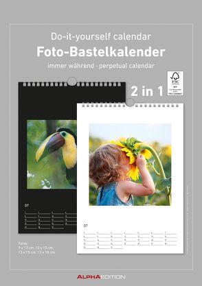 Foto-Bastelkalender – schwarz / weiß – immerwährend – (21 x 29,7)
