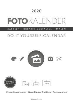 Foto-Bastelkalender weiß 2020 – Bastelkalender – Do it yourself calendar A4 – datiert – Kreativkalender – Fotokalender von ALPHA EDITION