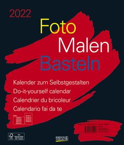 Foto-Malen-Basteln Bastelkalender schwarz groß 2022 von Korsch Verlag