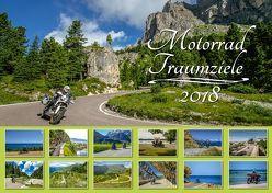 Foto-Wandkalender – Motorrad-Traumziele DIN A2 quer