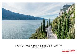 Foto-Wandkalender Motorradtouren 2019 – DIN A2 quer mit Feiertagen für Deutschland, Östereich und die Schweiz – Mit Platz für Notizen