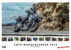 Foto-Wandkalender Motorräder 2019 – DIN A3 quer mit Feiertagen für Deutschland, Östereich und die Schweiz – Mit Platz für Notizen