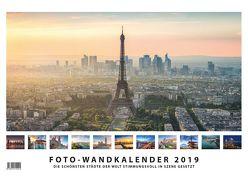 Foto-Wandkalender Städte 2019 – DIN A3 quer mit Feiertagen für Deutschland, Östereich und die Schweiz – Mit Platz für Notizen