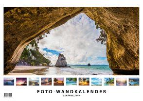 Foto-Wandkalender – Strände 2019 DIN A3 quer mit Feiertagen für Deutschland, Östereich und die Schweiz – Mit Platz für Notizen