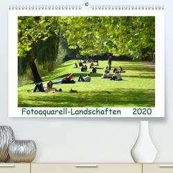 Fotoaquarell-Landschaften. (Premium, hochwertiger DIN A2 Wandkalender 2020, Kunstdruck in Hochglanz) von Schmidt,  Sergej