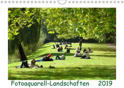 Fotoaquarell-Landschaften. (Wandkalender 2019 DIN A4 quer) von Schmidt,  Sergej