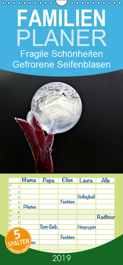 Fragile Schönheiten – Gefrorene Seifenblasen – Familienplaner hoch (Wandkalender 2019 , 21 cm x 45 cm, hoch) von Schiller-Bauer,  Sigrid