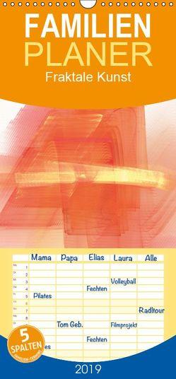 Fraktale Kunst – Familienplaner hoch (Wandkalender 2019 , 21 cm x 45 cm, hoch) von Burlager,  Claudia
