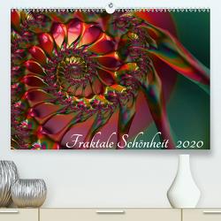Fraktale Schönheit 2020 (Premium, hochwertiger DIN A2 Wandkalender 2020, Kunstdruck in Hochglanz) von M. Burkhardt,  Shako