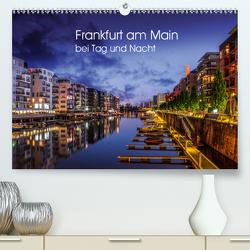 Frankfurt am Main bei Tag und Nacht (Premium, hochwertiger DIN A2 Wandkalender 2021, Kunstdruck in Hochglanz) von Augusto,  Carina