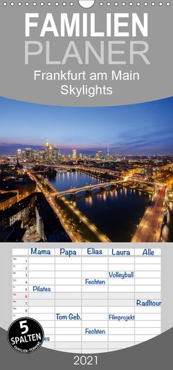 Frankfurt am Main Skylights – Familienplaner hoch (Wandkalender 2021 , 21 cm x 45 cm, hoch) von Pavlowsky Photography,  Markus