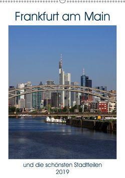 Frankfurt am Main und die schönsten Stadtteilen (Wandkalender 2019 DIN A2 hoch) von Bodenstaff,  Petrus